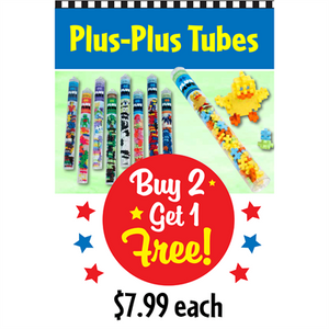 """PLUS PLUS Tubes"" Signs for Learning Express"