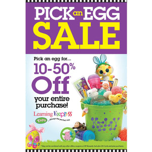 Pick An Egg Sale Signs for Learning Express | AdVision Signs - Pittsburgh, PA