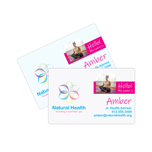 .020 Gloss Deluxe Plastic Business Cards (White or Clear)