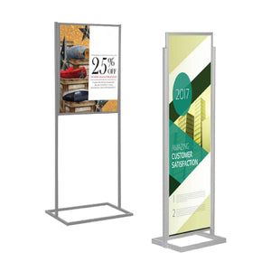 Heavy Base Poster Stand Frame | Vista Systems