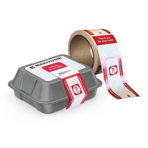 Preprinted Tamper-Evident Food Labels - AdVision Signs