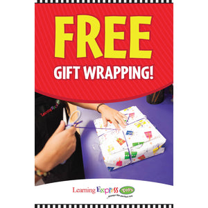 Free Gift Wrapping Holiday Signs for Learning Express - AdVision Signs