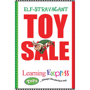 """Elf Stravagant Toy Sale"" Signs for Learning Express"