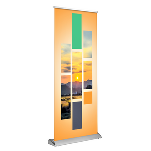 "Deluxe Retractable Banner Stand 33"" x 81"" - AdVision Signs"
