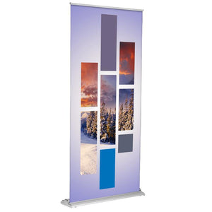 SD Retractable Banner Stand (Silver) - AdVision Signs