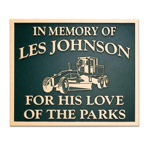 "Cast Bronze Plaques - 1/4"" Depth"