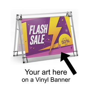 A-Frame Banner Display 4 ft - AdVision Signs