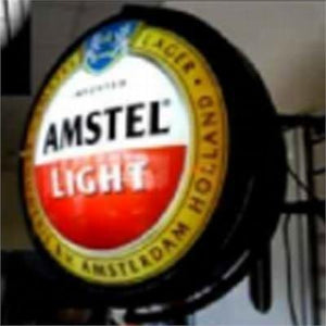 Rotating Illuminated Circular Sign with (2) Graphic inserts - AdVision Signs