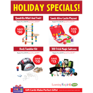 """Holiday Specials"" Signs for Learning Express"