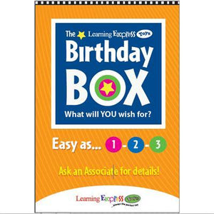"""Orange Birthday Box"" Signs for Learning Express"