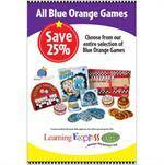"""Blue Orange Games"" Signs for Learning Express"