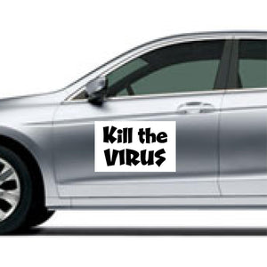 "Coronavirus Magnetic Signs for Vehicle - ""Kill The Virus"""