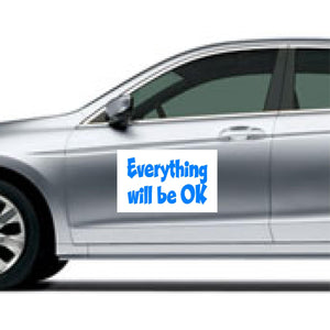 "Coronavirus Magnetic Signs for Vehicle - ""Everything will be OK"""