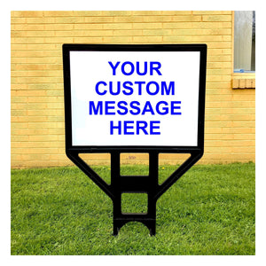 Plastic Frame Yard Sign