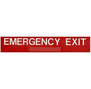 ADA Braille Emergency Exit Sign 2 x 10 Overstock