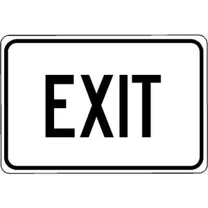 "18""x12"" EXIT Reflective White Sign"