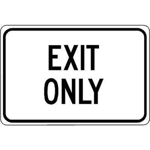 "18""x12"" EXIT ONLY Reflective White Sign"