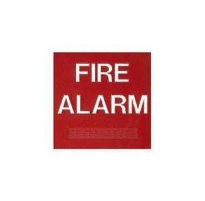 ADA Braille Fire Alarm Sign Overstock