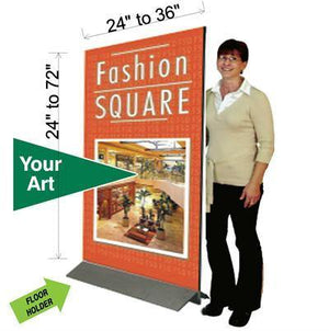"Free Standing Sign Holder with optional Gatorfoam (1/2"" thickness) Graphic - AdVision Signs"