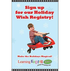 """Holiday Wish Registry"" Signs for Learning Express"