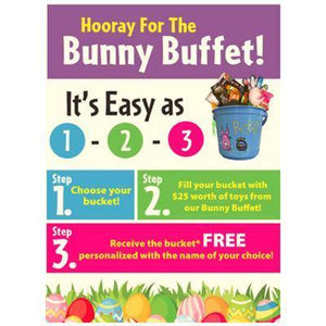 """Hooray for the Bunny Buffet"" Signs for Learning Express - AdVision Signs"