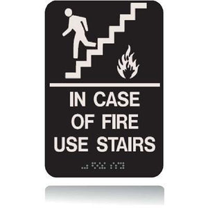 ADA In Case of Fire Use Stairs Sign