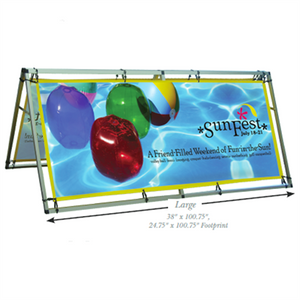 Large Outdoor Horizontal A-Frame with (2) Single Sided Imprinted Banners