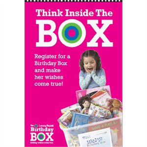 "Pink ""Think Inside the Box"" Signs for Learning Express"