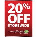 "White/Red ""20% Off Storewide"" Signs for Learning Express - AdVision Signs"