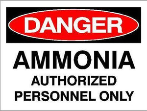 OSHA Danger Signs | Ammonia Authorized Personnel Only Sign - AdVision Signs