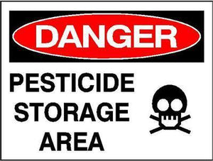 OSHA Danger Signs | Pesticide Storage Area Sign - AdVision Signs