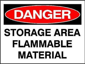 OSHA Danger Signs | Flammable Material Sign - AdVision Signs