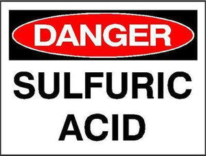 OSHA Danger Signs | Sulfuric Acid Sign - AdVision Signs