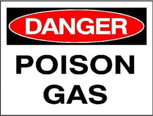 OSHA Danger Signs | Poison Gas Sign - AdVision Signs