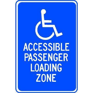 ACCESSIBLE PASSENGER LOADING ZONE SIGN