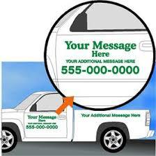 Truck Lettering - Pickup Truck with Bed - AdVision Signs