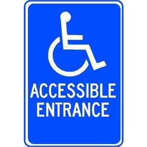 ACCESSIBLE ENTRANCE with Accessible Symbol Sign