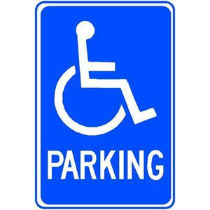 PARKING SIGN with WHEELCHAIR