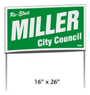 Poly Bag Yard Signs - One Print Color