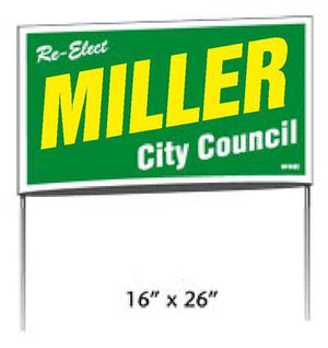 Poly Bag Yard Signs - 2 Print Colors
