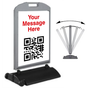 QR Code Sidewalk Sign - Wind Sign 24x36 - AdVision Signs