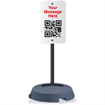 Tip 'n Roll Sidewalk Portable Pole Sign Holder (with or without face options) - AdVision Signs