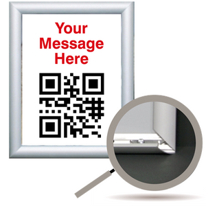 QR Code Graphic in Trappa Snap Aluminum Frame