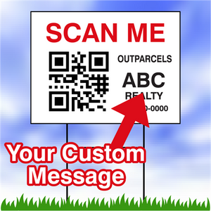 "QR Code Corrugated Yard Signs 18""x24"""