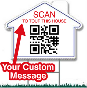 "QR Code Real Estate Corrugated Yard Signs 20""x23"" - AdVision Signs"