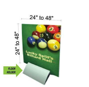 "Rigid Substrate Floor Holder with optional Gatorfoam (1/2"" thickness) Graphic - AdVision Signs"