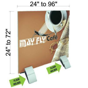 "Rigid Substrate Floor Holder Pair with optional Gatorfoam (1/2"" thickness) Graphic - AdVision Signs"
