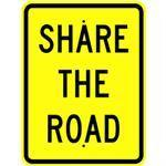 "18""x 24"" SHARE THE ROAD REFLECTIVE SIGN"