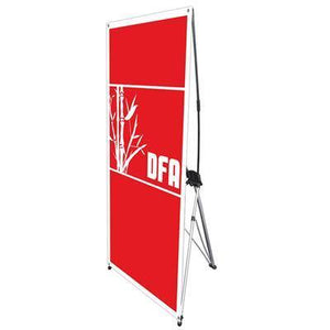 "Spring 4 Tripod Banner Stand with 27"" x 62.5"" banner - AdVision Signs"