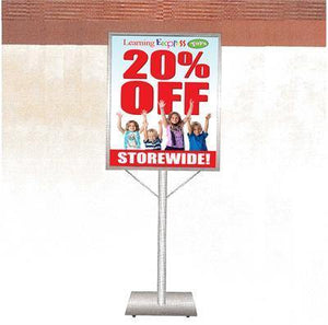"Light Gray 22"" x 28"" Floor Sign Holder"